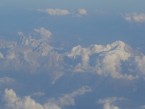 Photo: The French Alpes are still or yet White topped...