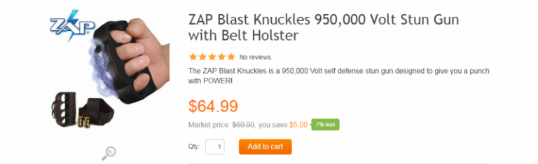 Satisfied Customer Leaves Hilarious Review For Brass Knuckle 'Stun Gun'