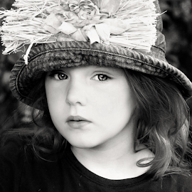 What are you looking at? B&W  by Cheryl Korotky - Black & White Portraits & People