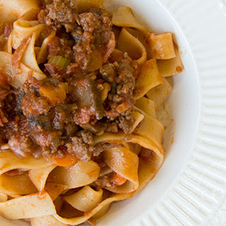 Pappardelle with Red Wine and Ragu