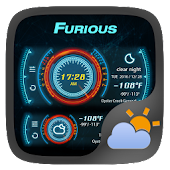 Furious Weather Widget Theme
