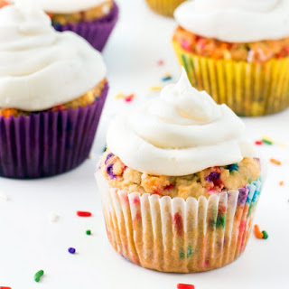 Almond Flour Funfetti Cupcakes.