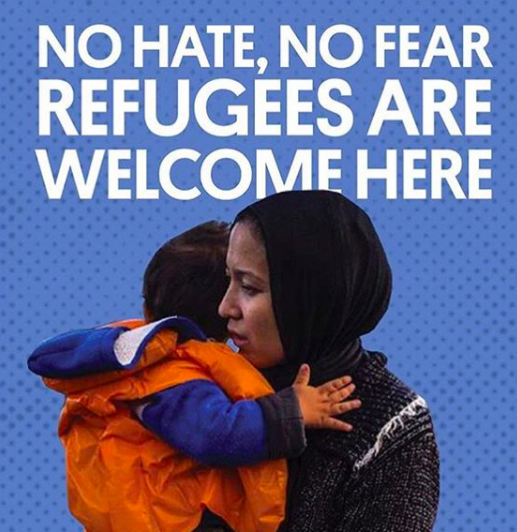 Poster no hate no fear