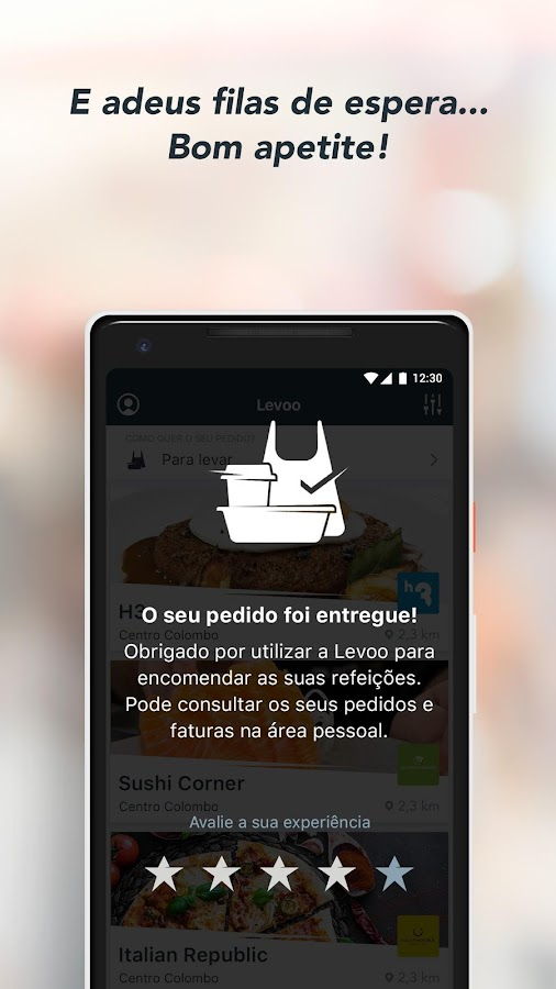 Levoo– captura de ecrã