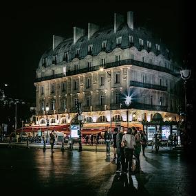by George Nichols - City,  Street & Park  Street Scenes ( paris, street, france, french, people,  )