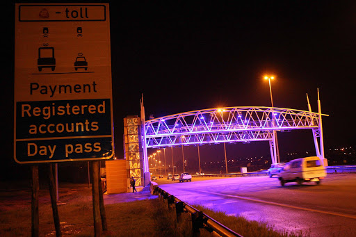 An e-toll gantry. File photo.