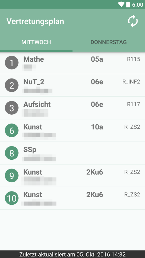 Die WDG App- screenshot