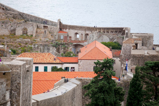 Inside-Old-Dubrovnik.jpg - The view from atop the fortress walls in Old Dubrovnik.
