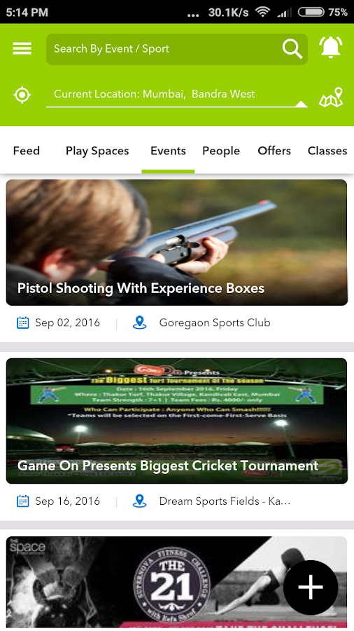 SportsJig - Sports near you- screenshot