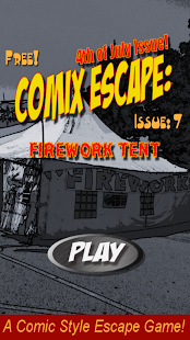 Comix Escape: Firework Tent- screenshot thumbnail