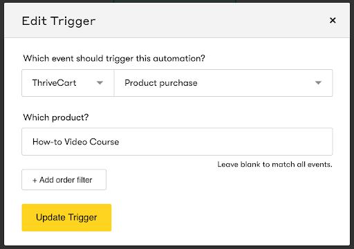 Drip and Thrivecart Integration Screenshot