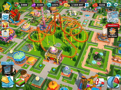 RollerCoaster Tycoon Touch Screenshot