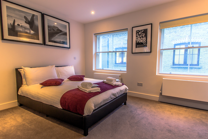 Luxury bedroom at Artillery Lane