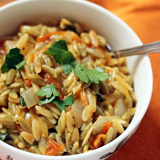 Orzo With Slow-roasted Tomatoes, Lemon And Parsley