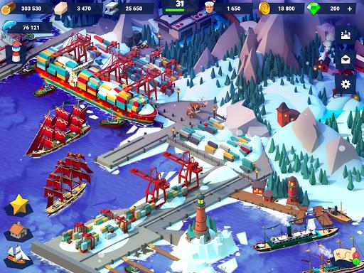 Sea Port: Build Town & Ship Cargo in Strategy Sim screenshots 15