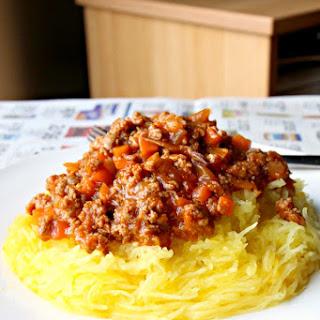 "My Grandmother's Chinese ""Spaghetti"" Bolognese (GF, Paleo, Nut-Free, Dairy Free)"