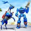 Horse Robot Transform Game: Police Plane Transport icon