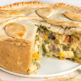 Creamy Vegetable and Halloumi Pie Recipe