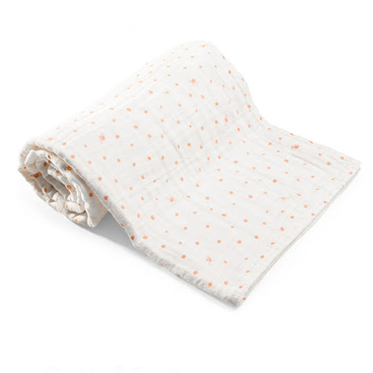 Stokke Teppe Muslin Cotton Coral Bee