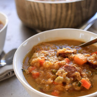Slow Cooker Cajun Red Lentil Soup