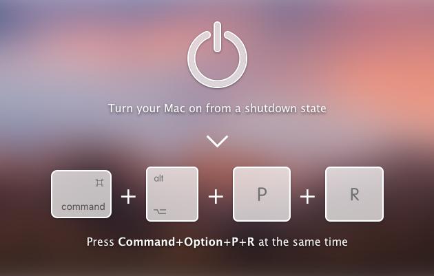 Reset PRAM on Mac