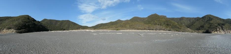 塩竈浜からパノラマ(陸側)