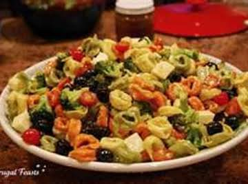 Tortellini with Meat & Vegetables Cold Salad
