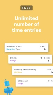 Toggl: Time Tracker and Timesheet for Work Hours Screenshot