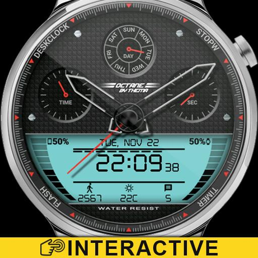 Octane Watch Face & Clock Widget Icon