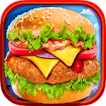 Fast Food Burger Kitchen Chef Icon