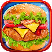 Fast Food Burger Kitchen Chef
