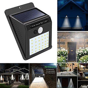 Set 6 x Lampa solara de perete cu senzor miscare 30 LED