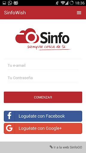 SinfoWish · PedidosGO! screenshot 2