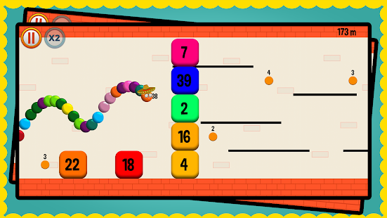 Snappy Snake: Balls vs Blocks Screenshot