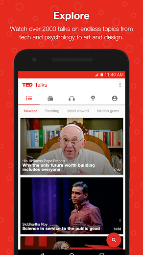 Screenshot 0 for TED's Android app'