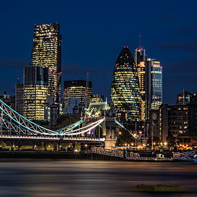 London Night Scene. by Peter Wyatt - Buildings & Architecture Other Exteriors