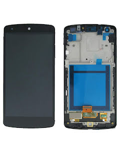 Nexus 5 Display Digitizer with White Frame Black