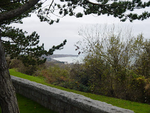 Photo: A view down the coast, towards Pointe du Hoc, where we will visit next.