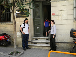Photo: In front of The Mezopotamya Cultural Center (Navenda Çanda Mezopotamya)