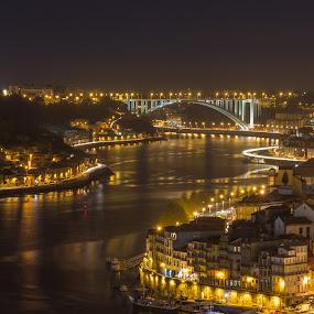 by Diogo Ferreira - City,  Street & Park  Night ( street at night, portugal, city at night, porto )