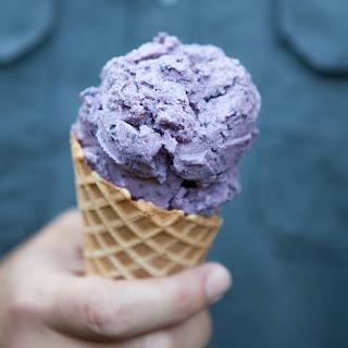 Fresh Blueberry Ice Cream (Dairy Free).