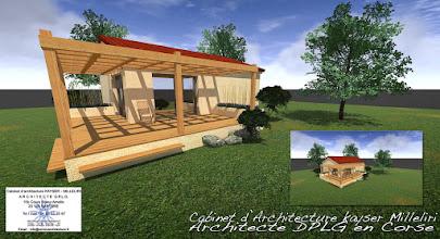 Photo: Maisonnette de 55 m 2 Shon / 100 000 euro H.T. RT 2012 - Bio climatique, Ecologique & Economique