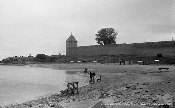 Photo: Кремлевская стена, городской пляж. 1968 год.