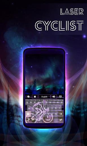 無料个人化Appのレーザーサイクリストキーボード|記事Game