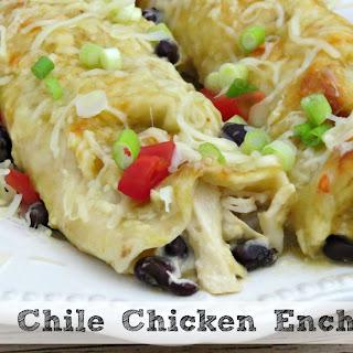 Green Chile Chicken Enchiladas.
