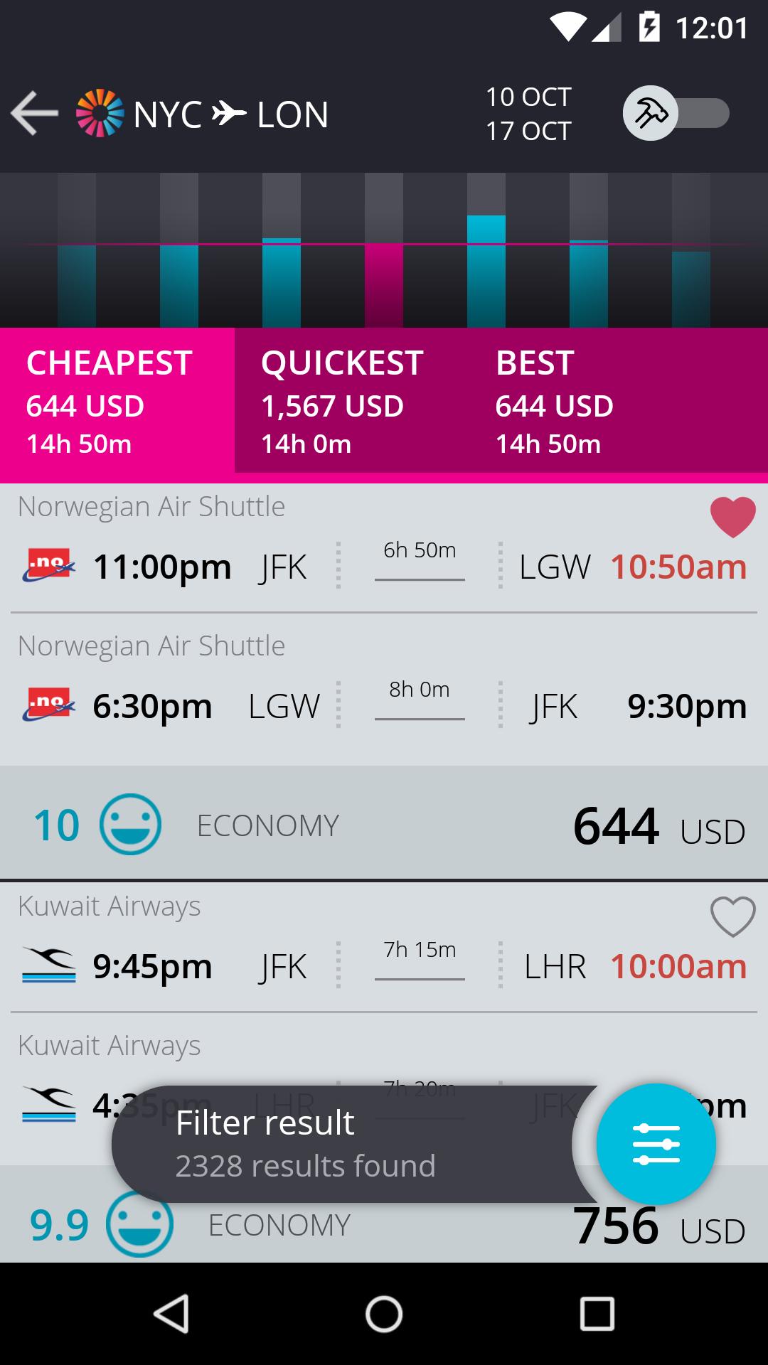 momondo Cheap Flights & Hotels screenshot #2