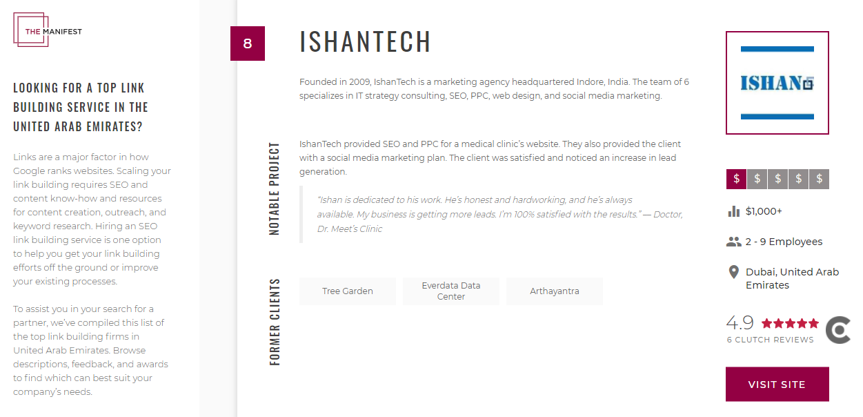 manifest review - ishantech