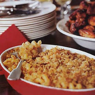 Macaroni and Cheese with Garlic Bread Crumbs, Plain and Chipotle recipe | Epicurious.com.