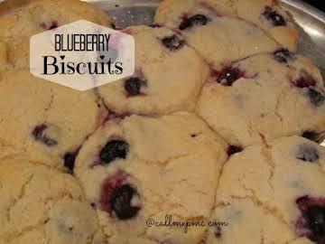 Decadent Blueberry Biscuits