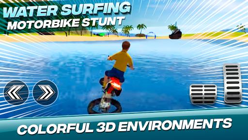 Water Surfing Motorbike Stunt  image 2